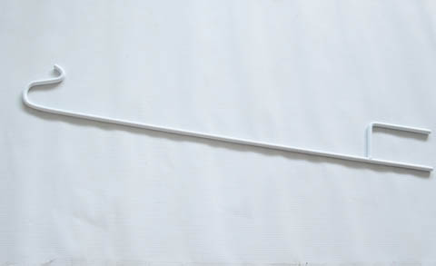 4X White Garden Single Shepherd Hook Wedding Crook Holder dis